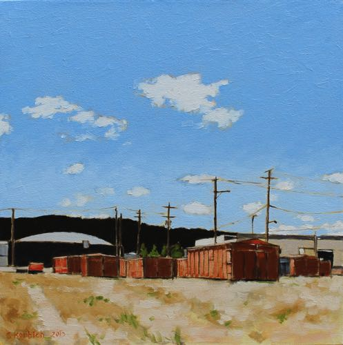 Orange Containers Oil on Canvas 20x20